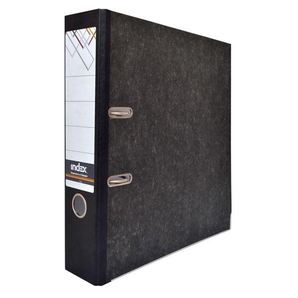 Папка-регистратор 80 мм, черный мрамор «INDEX»