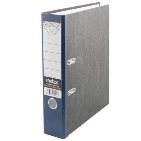 Папка-регистратор 80 мм «мраморная», цветной корешок «INDEX»