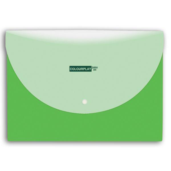 Папка-конверт с кнопкой А4, COLOURPLAY, 2 отделения «INDEX»