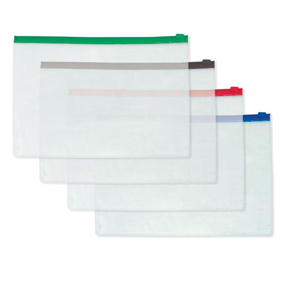 Папка-конверт на молнии А4, прозрачная «SPONSOR»