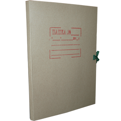 Папка на завязках картонная «СТАНДАРТ»