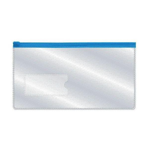 Папка-конверт на молнии 233х124мм, прозрачная «INDEX»