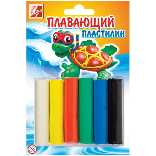 Пластилин «Плавающий», 6 цветов «ЛУЧ»