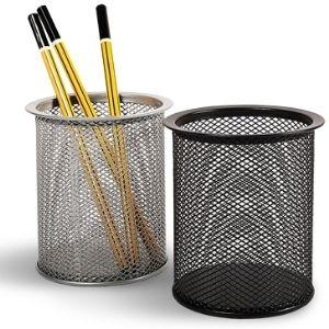 Стакан для ручек из металлической сетки, круглый