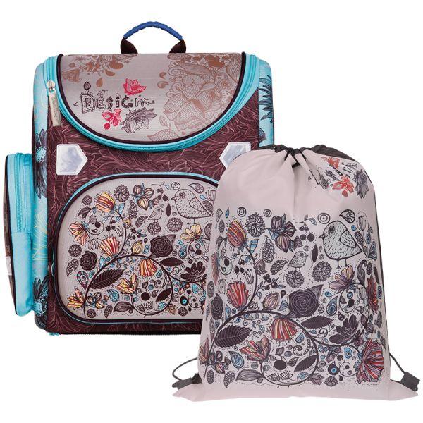 Ранец Ultra Compact «Birds» с мешком для обуви
