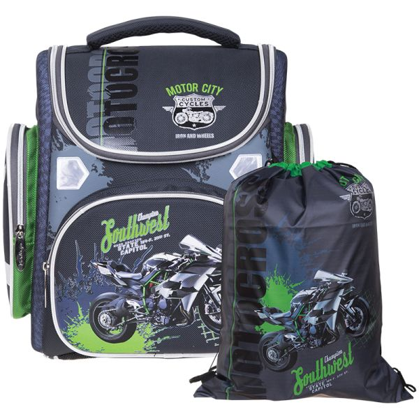 Ранец Ultra Compact «Motorbike» с мешком для обуви