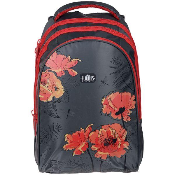 Рюкзак Style «Red poppies» 42*30*20 см