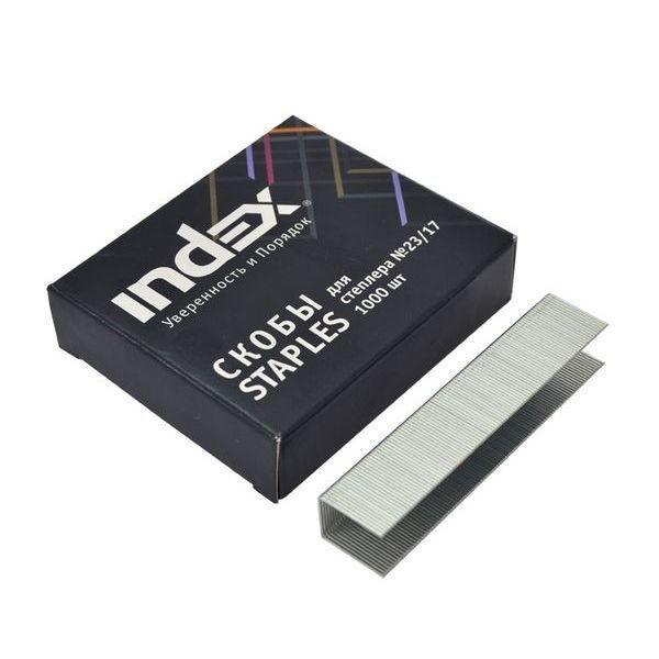Скобы для мощного степлера №23 «INDEX»