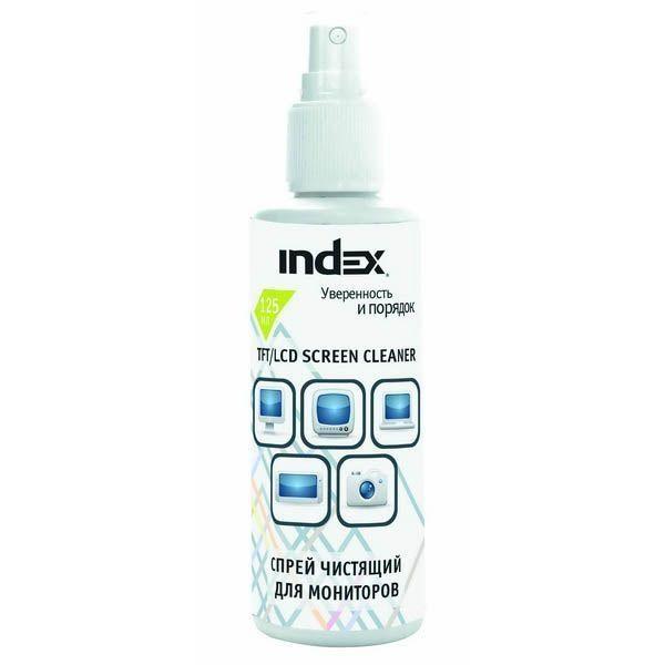 Спрей чистящий для мониторов, 125 мл «INDEX»