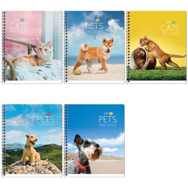 Тетрадь на гребне, А5, 80 листов «Животные — My pets»